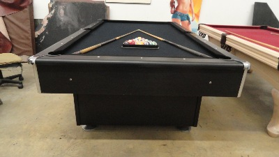 8 Ft. Ebony Black On Black Pool Table U003du003du003du003d
